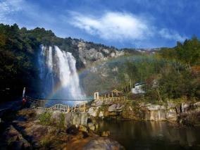 看瀑布观彩虹听风铃踏春亲子一日游